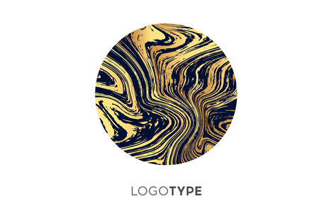 Vector Abstract Marble Logo Brand Company Design Template. Brightly logotype, logo, sign, symbol. Luxury premium exclusive print. Illustration