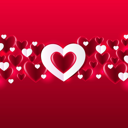 Valentine S Day Background With Hearts Abstract Background Design