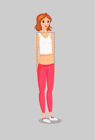 Set of Female Body Shape Types. vector illustration
