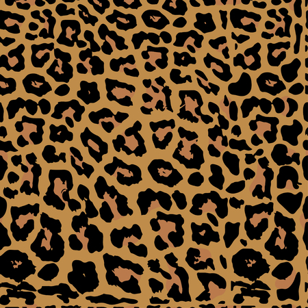 Seamless leopard print. Vector pattern, texture, background. Leopard seamless pattern. Animal print.
