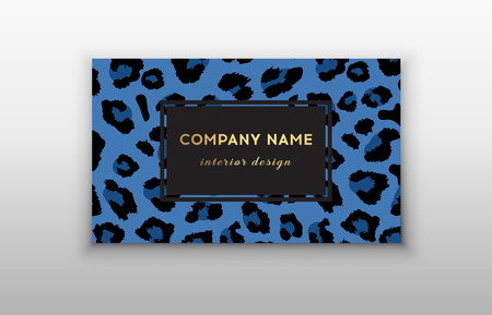 Business card trendy leopard pattern. Wild animals business card. Abstract Modern Backgrounds. Imagens - 122861324