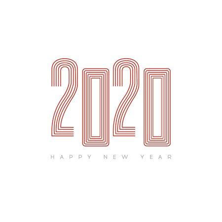 Happy New Year 2020. Modern 2020 Text Design. Vector New Year illustration. Illustration