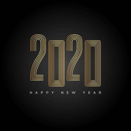 Happy New Year 2020. Modern 2020 Text Design.Vector New Year illustration. Illustration