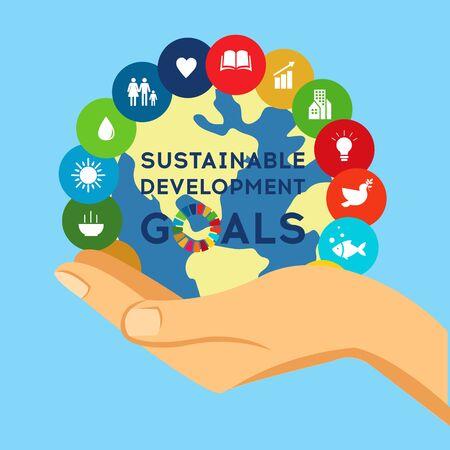 Sustainable Development Global Goals. Abstract Brochure design. Vector illustration.