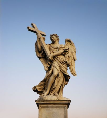 One of Bernini Angels on the Ponte Sant Angelo in Rome. photo
