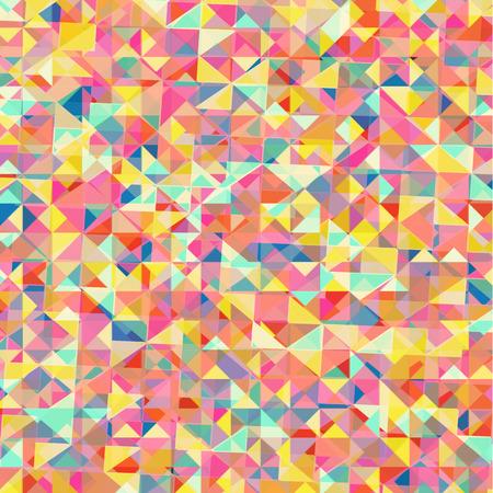 Abstract multicolor triangle geometrical , Illustration Ilustração