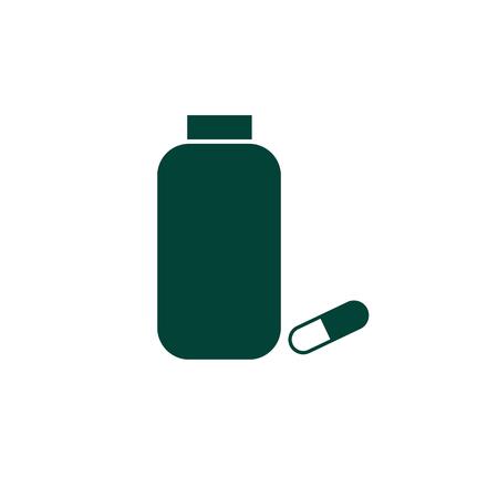 Vial of medicine Vector icon