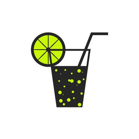 Soda lemonade flat icon