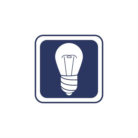 Lamp vector icon in minimal style. Ilustração
