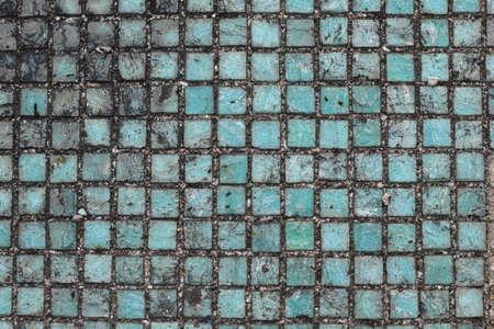 Old dirty mosaic texture. Grunge background 免版税图像