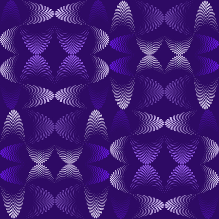 Abstract pattern, halftone effect, that make up wavy futuristic lines.