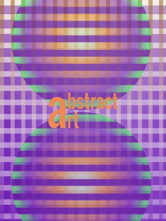 Vertical background in ultraviolet, green and orange colors. Geometric shapes, round spheres, gradients, transparency. Vector template for luxury designer invitations, advertising, sales, posters.