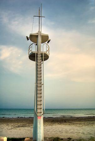 baywatch: baywatch tower in the evening