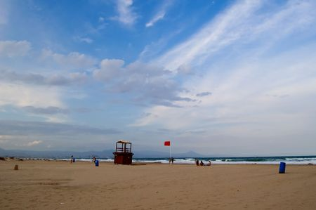 baywatch: Baywatch tower and red flag