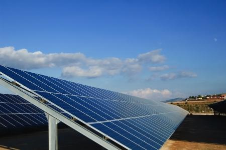 Solar power plants. Solar panels in south of Spain Foto de archivo