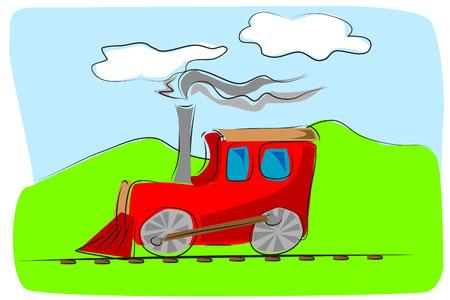 Train toy - kids illustration style Vector