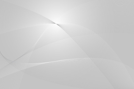 Abstract background with lines and waves, silver tones Vector