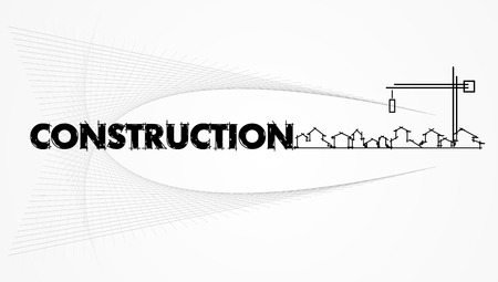 architecture - construction company. Project card Template - Vector illustration Vector