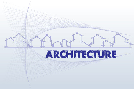 housing project: arquitectura - empresa de construcci�n. Proyecto de plantilla de la tarjeta - ilustraci�n vectorial
