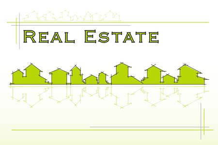 Real Estate company. Project card, template - Vector illustration Vector