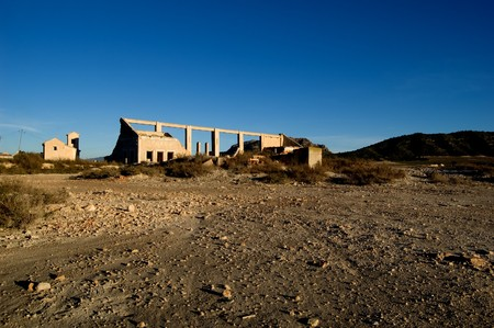 abandoned factory: Abandoned factory - rural spanish scenery, dry soil