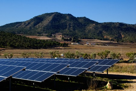 Solar power plant - Clean energy in Spain