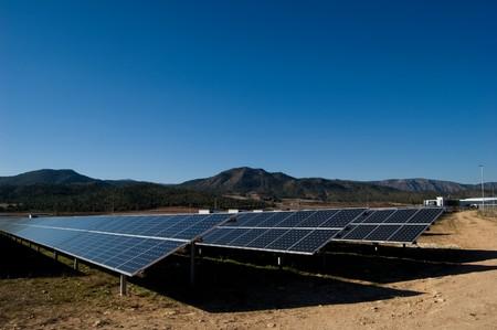 photocell: Solar power plant - Clean energy in Spain