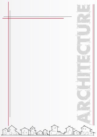 Broschüre für Architektur, Bau-Unternehmen. Vorlage, editable Vector illustration