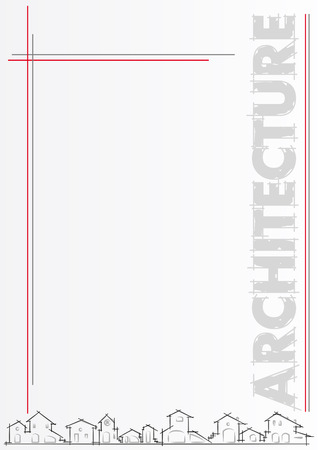 housing project: Folleto para la arquitectura o la empresa de construcci�n. Plantilla, ilustraci�n vectorial editable