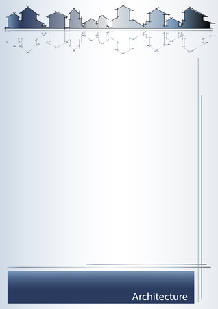 Brochure cover - Real estate, architecture, construction company - Metalic tones Vector