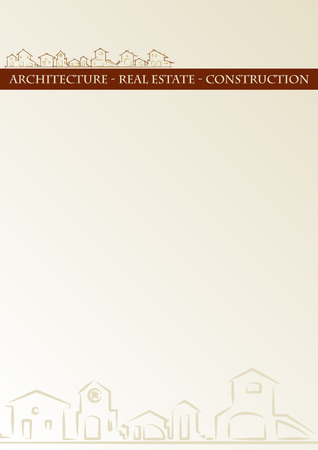 Brochure cover - Real estate, architecture, construction company - Classic style Vector