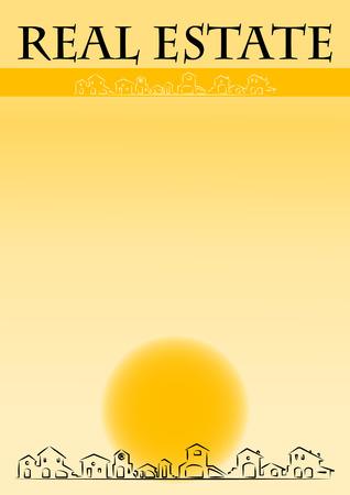 Brochure cover - Real Estate company Vectores