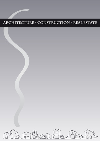Brochure Cover - Architecture, construction, real estate company Vector