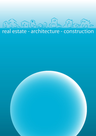 Brochure Cover - Business Card - Architecture, construction, real estate company Stock Vector - 4410601