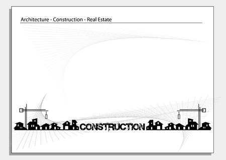 Brochure Cover - Business Card: Architecture, construction, real estate company Stock Vector - 4410612