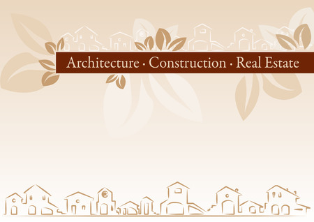 commercial real estate: Brochure Cover - Business Card for architecture, construction, real estate company