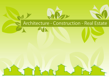 Brochure Cover - Business Card for architecture, construction, real estate company Vector