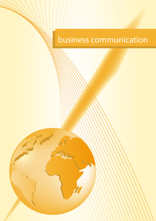 Brochure cover - Business card - Business communication, company identity Vector