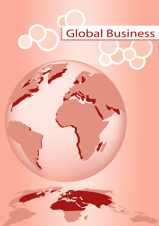Brochure cover - Business card - Global business communication, company identity Vector