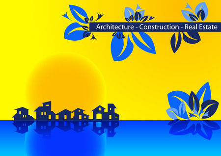Brochure Cover - Business Card for architecture, construction, real estate company Stock Vector - 4525322