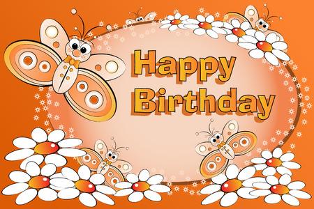 margriet: Vlinders en bloemen - Birthday Card for kids