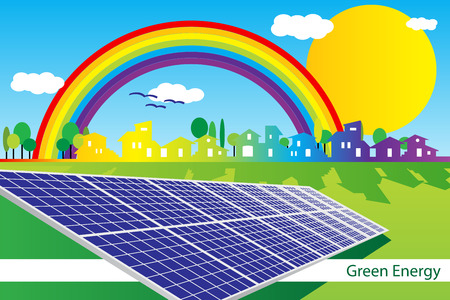 photovoltaic: Brochure cover - Business card - Green Business company identity