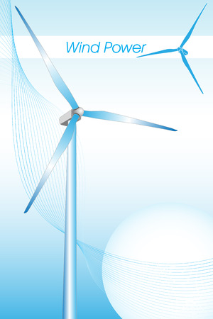 environmental science: Wind power illustration, green energy Illustration