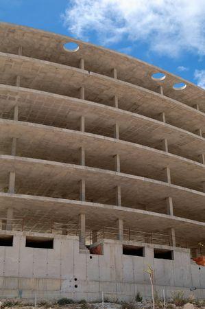 Building under construction, concrete structure Stock Photo - 4711414