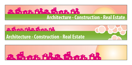 Web banner, business card, label or insignia for real estate, architecture, construction company Stock Vector - 4737790
