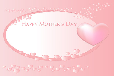 mamma: Mothers Day greeting card with hearts