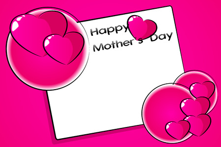 mamma: Mothers Day greetings card with hearts and frame