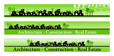Web banner, business card, label or insignia for real estate, architecture, construction company Stock Vector - 4822364