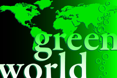 Brochure cover - Business card - Green world. Vector