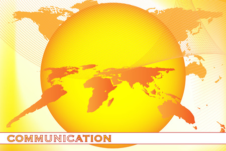 Brochure cover - Business card - Business communication, company identity with world map Vector